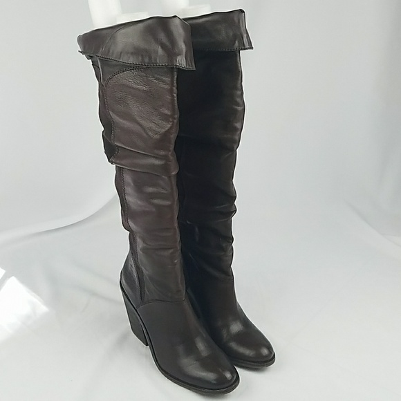 4bfcc01d59b Lucky Brand women 8.5 brown Edina knee high boots